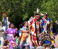 Aboriginal People In K-Days Parade Royalty Free Stock Photography