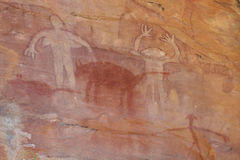 Aboriginal Rock Art. 13.000 years old rock art made by aboriginals in Australia Stock Image