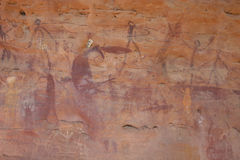 Aboriginal Rock Art. 13.000 years old rock art made by aboriginals in Australia Royalty Free Stock Photos