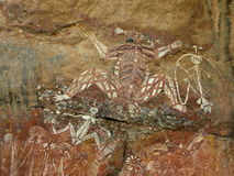 Aboriginal Rock Art - Kakadu Royalty Free Stock Photo