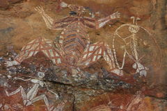 Aboriginal rock art at Nourlangie, Kakadu National Park, Northern Territory, Australia Stock Image