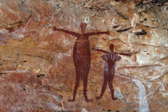 Aboriginal Rock Painting royalty free stock photo