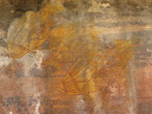 Aboriginal rock paintings Royalty Free Stock Image