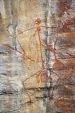 Aboriginal Rockkonst Arkivfoto