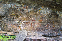Aboriginal Rockkonst Royaltyfri Bild
