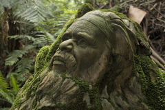 Aboriginal sculpture. William Ricketts Sanctuary sculpture of an aboriginal Royalty Free Stock Images