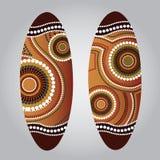 Aboriginal shield Vector art. Royalty Free Stock Image