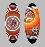 Aboriginal shield Vector art. Stock Images