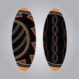 Aboriginal shield Vector art. Royalty Free Stock Photos