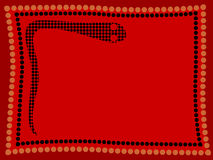 Aboriginal Snake. Background of aboriginal style snake with dot art frame Stock Photo