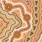 Aboriginal style background Stock Photos