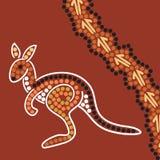 Aboriginal style background Royalty Free Stock Image