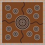 Aboriginal style of dot painting depicting circle. A illustration based on aboriginal style of dot painting depicting circle Royalty Free Stock Image
