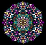 Dot painting meets mandala 2 - 18 royalty free illustration