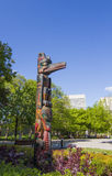 Aboriginal Totems in Canada Stock Image