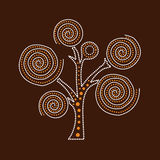 Aboriginal Tree Illustration. Illustration based on aboriginal style of dot painting Royalty Free Illustration