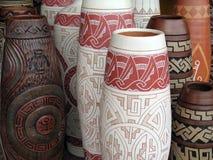 aboriginal vase Arkivfoton