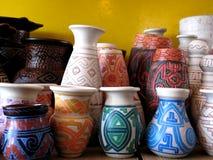 aboriginal vase Arkivbilder