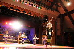 Aboriginal  Warrior dance. Performed at cultural village sarawak Stock Photography