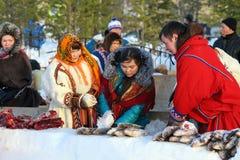 Aboriginals des échanges de nord de la nourriture Photographie stock libre de droits
