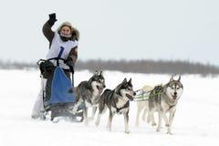 Aboriginals du nord de Jeux Olympiques Russie Yamal Nadym images libres de droits