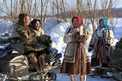 Aboriginals du nord de la Sibérie Image libre de droits