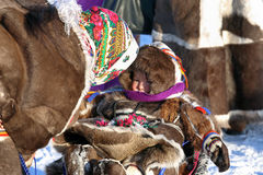 Aboriginals of the North of Siberia Stock Image