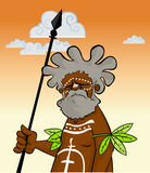 Aborigine with Spear Stock Photography