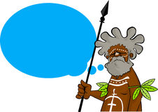 Aborigine with thought balloon Royalty Free Stock Images