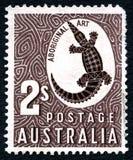 Aboriginer Art Australian Postage Stamp Royaltyfria Bilder