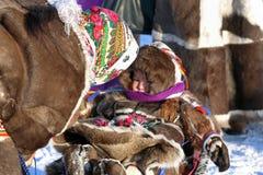 Aboriginer av norden av Sibirien Fotografering för Bildbyråer