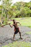 Aboriginer som kastar speeren Arkivfoto