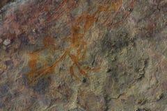 Aboriginer vaggar konst på den Kakadu nationalparken, det nordliga territoriet, Australien Arkivbild