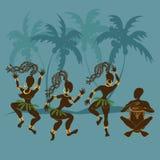 Aboriginerflickor och handelsresande för dans afrikanska Arkivfoto