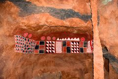 ABORIGINES CAVE royalty free stock images