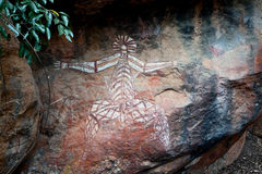Aborigines rock painting art Kakadu Royalty Free Stock Photo