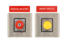 Abort and Release System. Isolated over white background Royalty Free Stock Photo