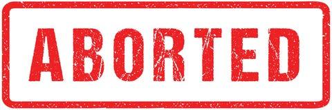 Aborterade grova bokstäver för röd skyddsremsaskyddsremsa som isoleras på vit Röd effekt för efterföljd för stämpel för färgpulve royaltyfri illustrationer