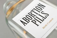 Abortion pill Stock Photos