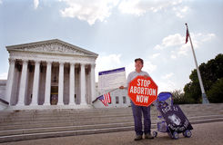 Abortion Protester at U.S. Supreme Court Royalty Free Stock Images
