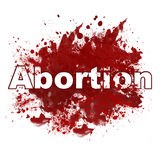 Abortion Red Messy Blot Stock Photography