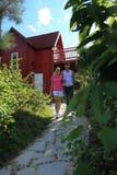 Abortion sanya bay beach resort cabin Stock Photography