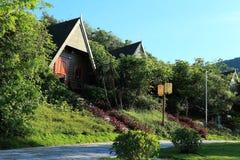 Abortion sanya bay beach resort cabin Royalty Free Stock Photo
