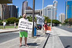 Abortion supporters Rally at Hawaii State Capital Royalty Free Stock Photography