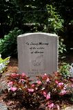 Abortion Tombstone. In the garden at St. Elizabeth`s Catholic Church, in Eureka Springs, Arkansas, is a tomb honoring the victims of abortion Royalty Free Stock Images
