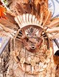 Aborygen bitwy maska na drzewie Obraz Royalty Free