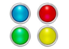 Abotoa cores da esteira Imagem de Stock