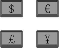 Abotoa a moeda Imagem de Stock