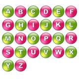 Abotoa o alfabeto Imagens de Stock