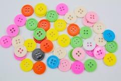 abotoa o clasper colorido dos botões dos botões do plástico Imagens de Stock